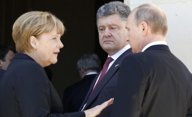 Путин и Порошенко проведоха телефонен разговор