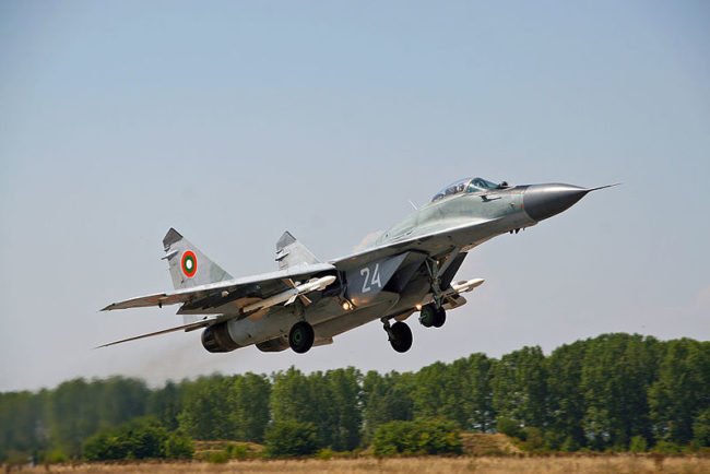 МиГ-29 от Военновъздушни сили на България