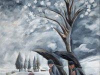 Зима. Събирането на дърва за огрев. 1911