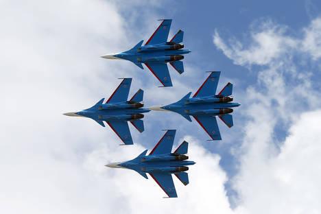 Су-30СМ. Снимка: Марина Лисцева / ТАСС