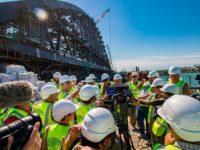 Журналисти от 10 страни посетиха строящия се мост между Русия и Крим