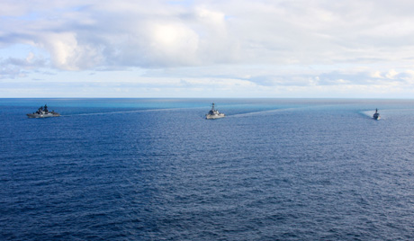 Китай и Русия с учения в Балтийско море