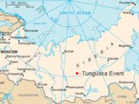 Мястото на избухването на картата на Русия.