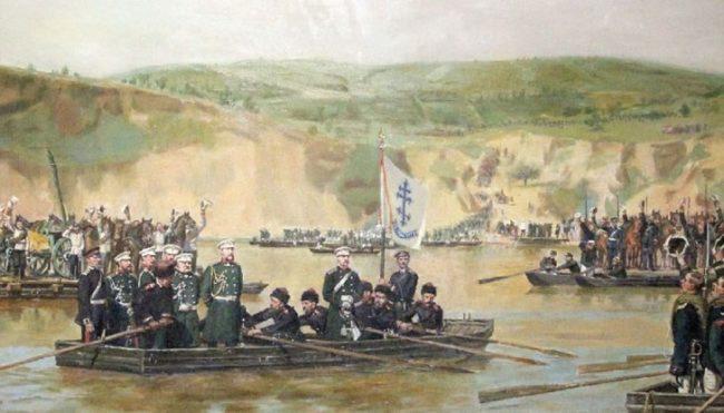 Резултат с изображение за Руската армия форсира Дунав