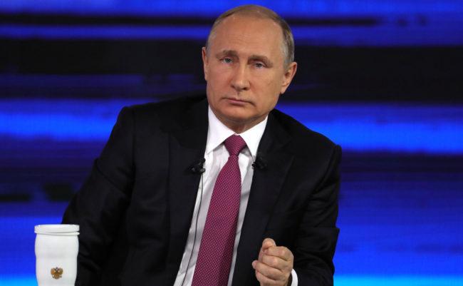 """В рамките на """"пряката линия"""" Владимир Путин отговори на 68 въпроса"""