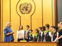 "Четвъртокласници от ЧСУ ""Юрий Гагарин"" в ""Камчия"" представиха България в ООН"