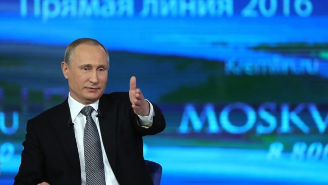 """Путин ще отговаря на въпроси на гражданите в """"Пряка линия"""""""