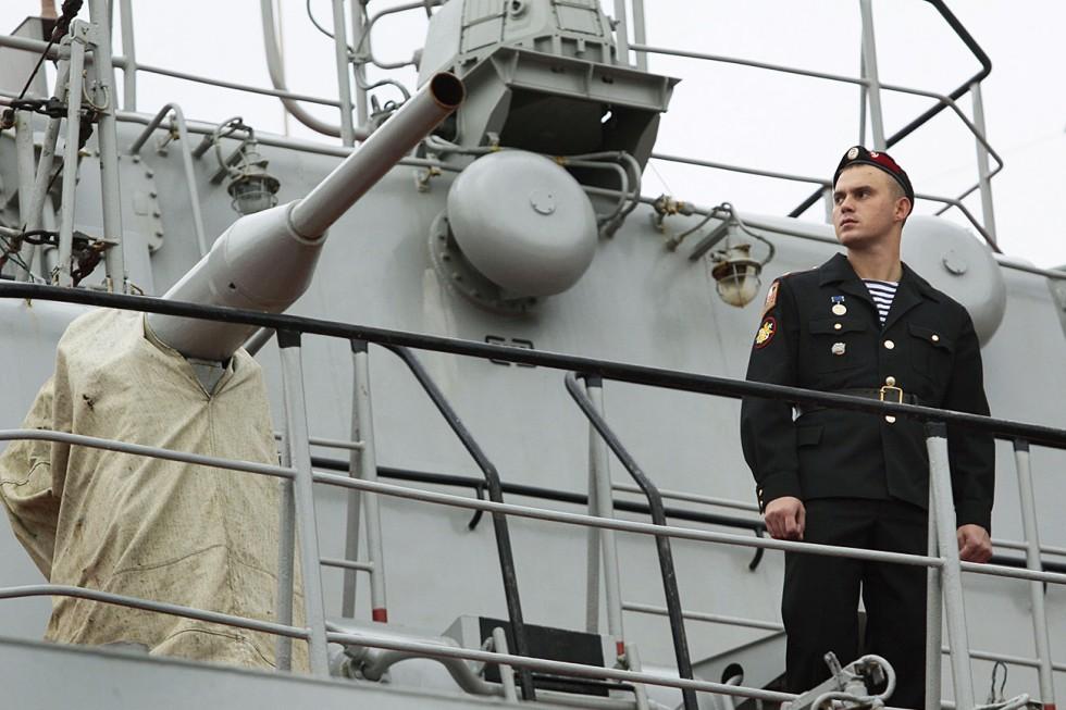 """Ядреният крайцер """"Петър Велики"""". Снимка: Global Look Press"""