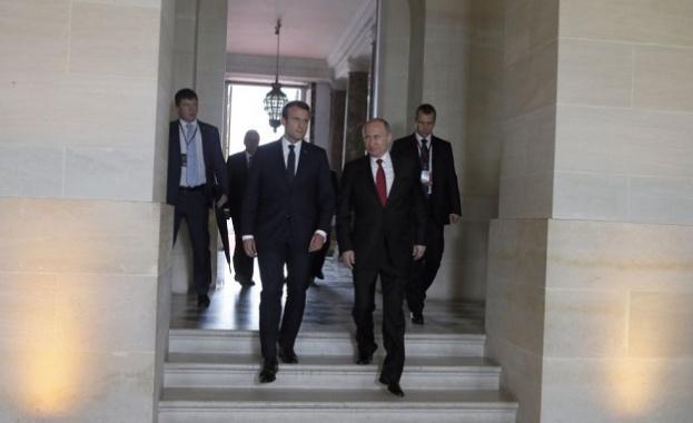 Путин, Меркел и Макрон обсъждат Украйна
