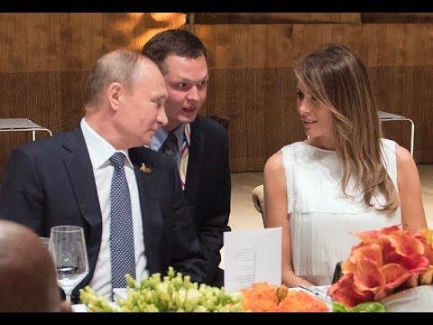 Путин обядва с Мелания Тръмп в кулоарите на Г-20
