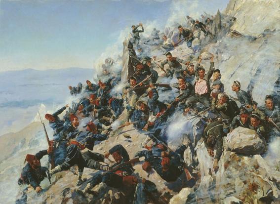 """""""Защитата на Орлово гнездо от брянци и орловци 1877 г."""" от Алексей Н. Попов"""
