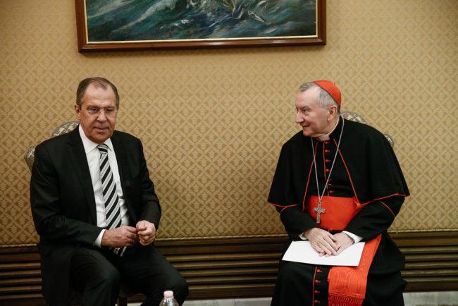 Отношенията между Русия и Ватикана са на много високо равнище, заяви кардинал Паролин