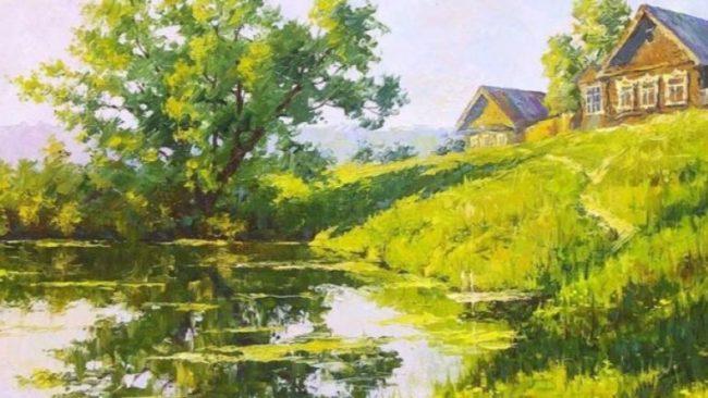 Руски художник очарова Запада със селски пейзажи