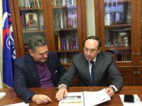 Николай Малинов и Вячеслав Никонов, председател на Комитета по образование и наука на Руската държавна Дума