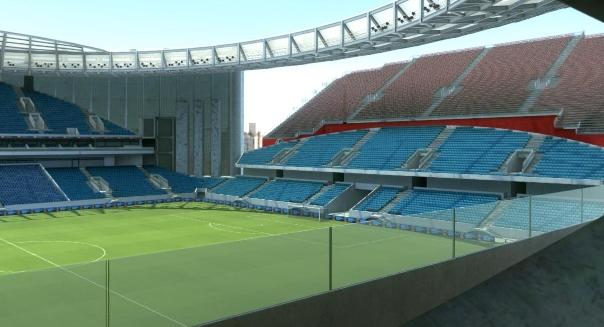 """Уникален стадион с """"външна"""" трибуна за Мондиала в Русия (СНИМКИ/ВИДЕО)"""