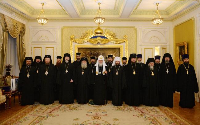 Среща на Светейшия Патриарх Кирил  с делегация на Българската Православна Църква