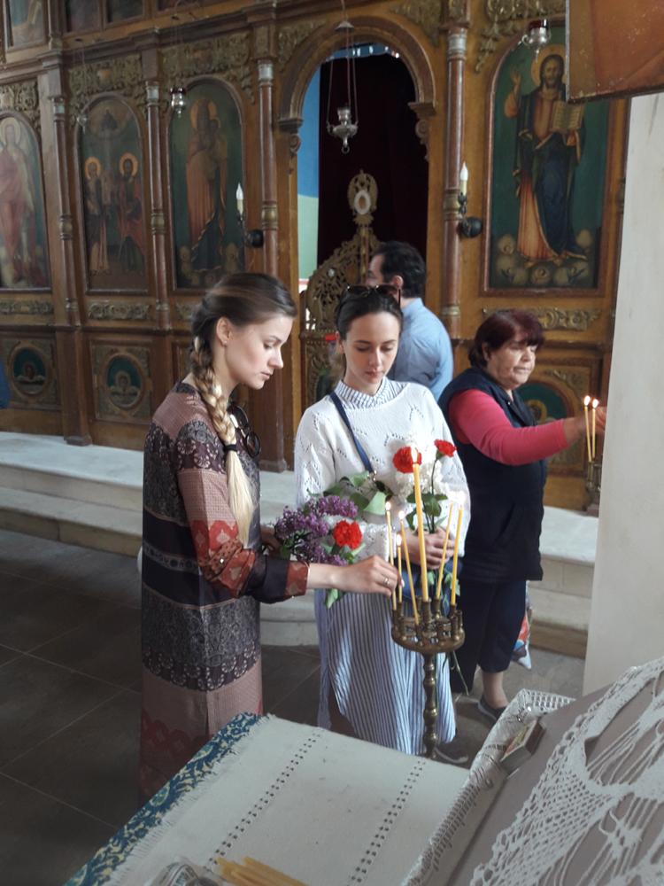 В църквата в село Иваново