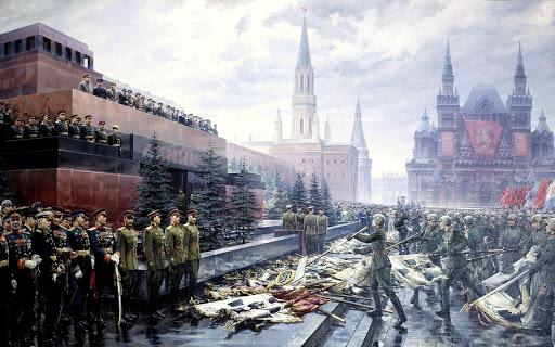 Парадът на Победата в Москва.      24 юни 1945