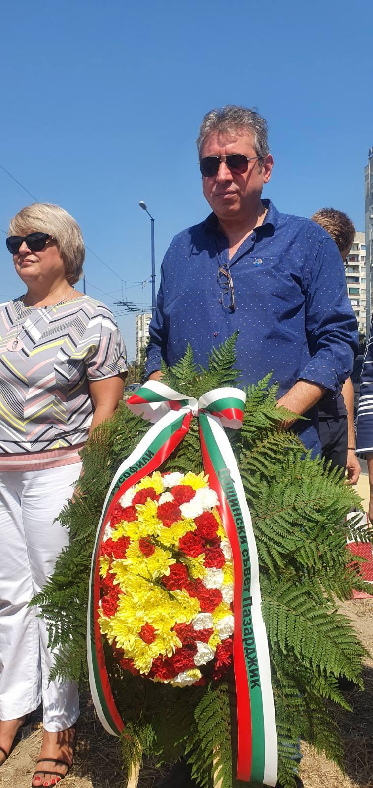 Движение Русофили-Пазарджик взе участие в откриването на паметника на ген. Брок