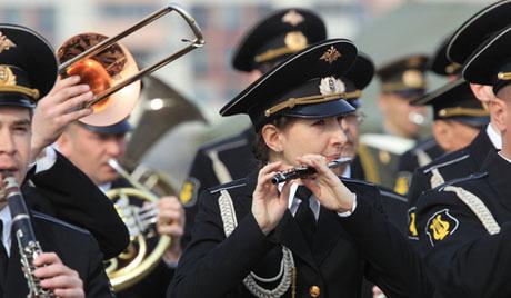 Музикалната партитура на парада на победата