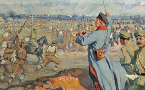 Паметна плоча на първия руски войник, загинал в Хасково по време на Руско-турската освободителна война