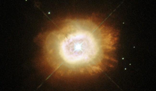 Снимка на взрив на древна звезда