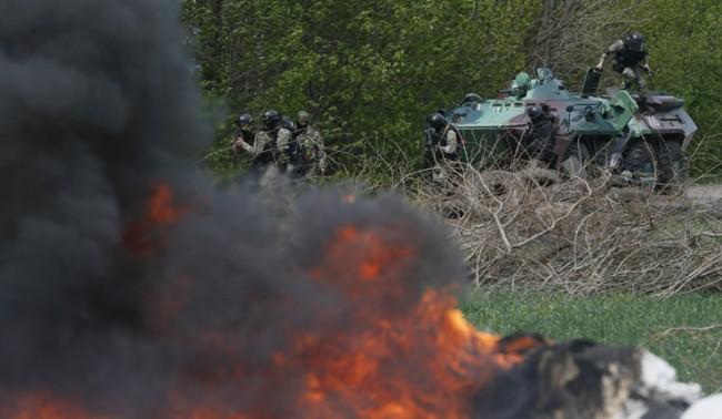 Киев възнамерява напълно да блокира Славянск