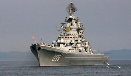 """Крайцерът """"Петър Велики"""" оглавява ВМС на Русия край бреговете на Сирия"""