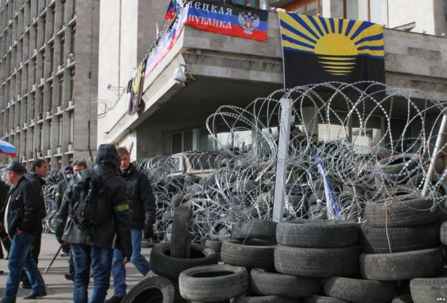 Протестиращите в Донецк в очакване на щурм