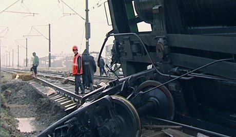 В Донецка област при взрив дерайлирали 14 вагона