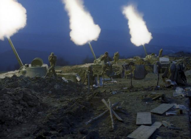 Славянск отново под обстрел