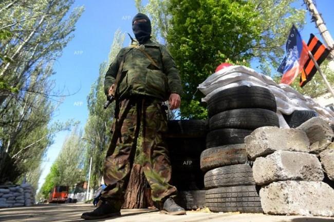 В покрайнините на Славянск е бил нанесен артилерийски удар