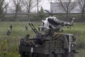 Украинските военни обстрелват град Щастие под Луганск
