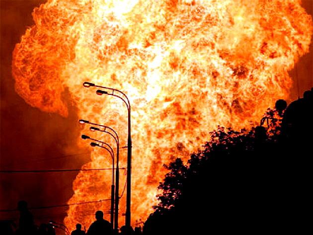 """Взрив на газопровода в Украйна, след заплахи от """"Десен сектор"""""""