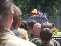 Пред Върховна рада занесоха тяло на убит украински войник