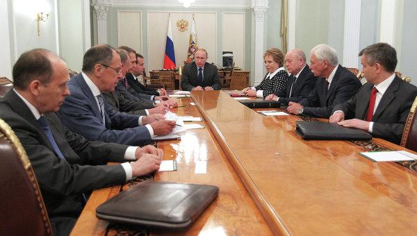 Путин обсъди ситуацията с украинските бежанци със Съвета за сигурност