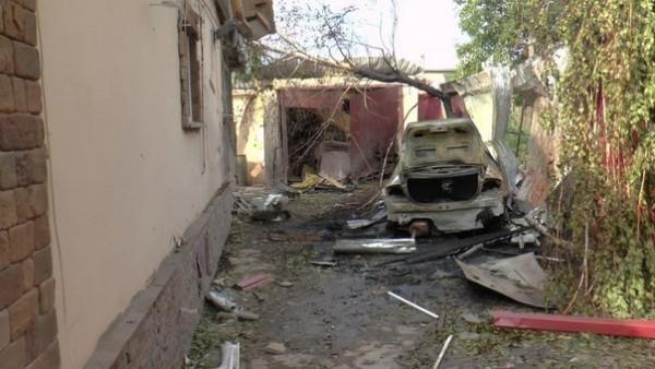 Луганск след обстрела (18+)