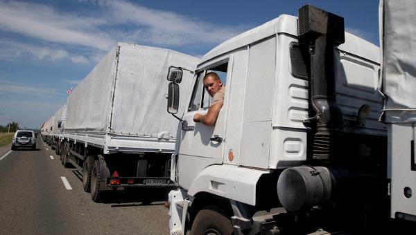 Първите 70 руски камиона с хуманитарна помощ пътуват към Луганск