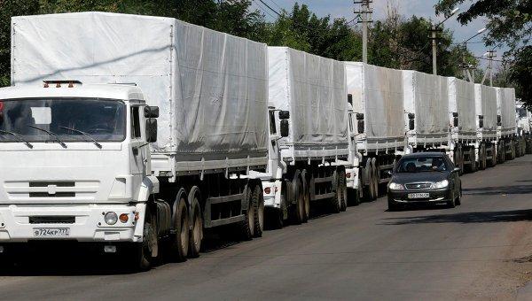 Руската хуманитарна помощ се движи към Луганск