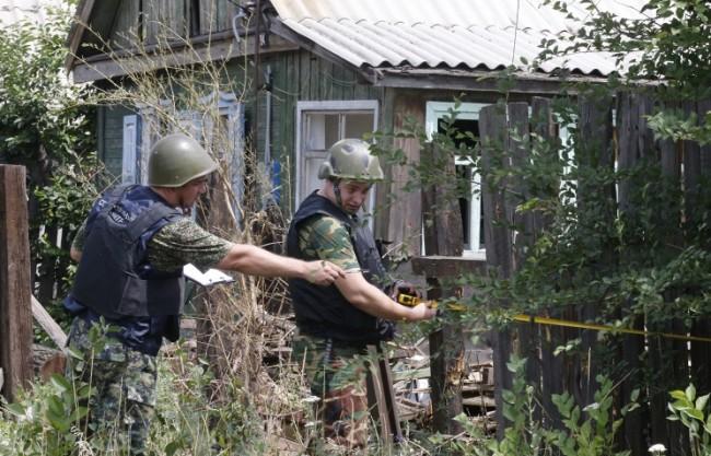 """9 снаряда от украински """"Град"""" се взривиха в Русия"""