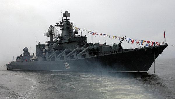 """На ученията """"Восток-2014"""" кораби поразиха условен противник"""