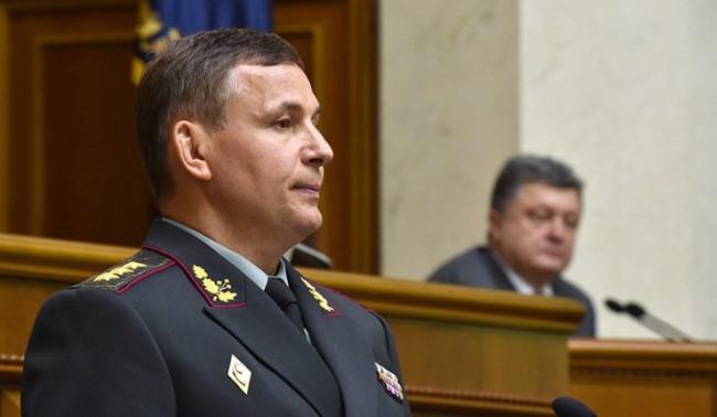 Министърът на отбраната Валерий Гелетей. /