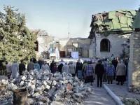 Възобновиха богослуженията пред руините на разрушен храм в Донецка област