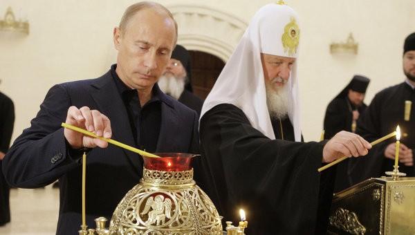 Патриарх Кирил пожела на Путин да издържи на «натиска срещу Русия»