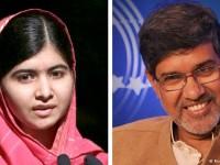 17-годишната пакистанка Малала Юсуфзай, известна с дейността си в подкрепа на правото на образование на момичетата, и индийският защитник на правата на децата Кайлаш Сатяртхи бяха удостоени с Нобеловата награда за мир, съобщиха световните агенции.