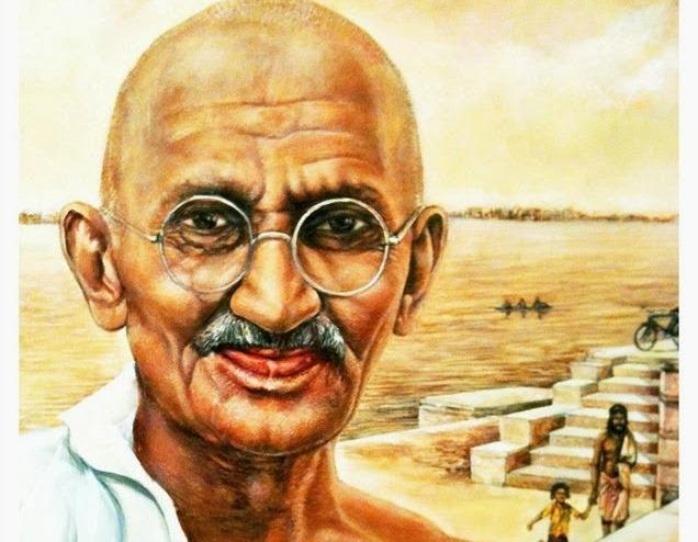 """Мохандас Карамчанд Ганди ,познат като Махатма Ганди, е индийски адвокат, политик, пацифист, борец за човешка свобода и духовен водач на индийското движение за независимост, което довежда през 1947 г. до края на британското владичество в страната. Наречен е още """"Баща на нацията""""."""