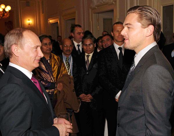 Леонардо Ди Каприо пред Путин: Половин руснак съм!