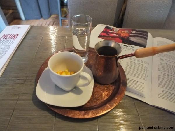 В Москва можете да намерите отлично турско кафе с портокалова кора