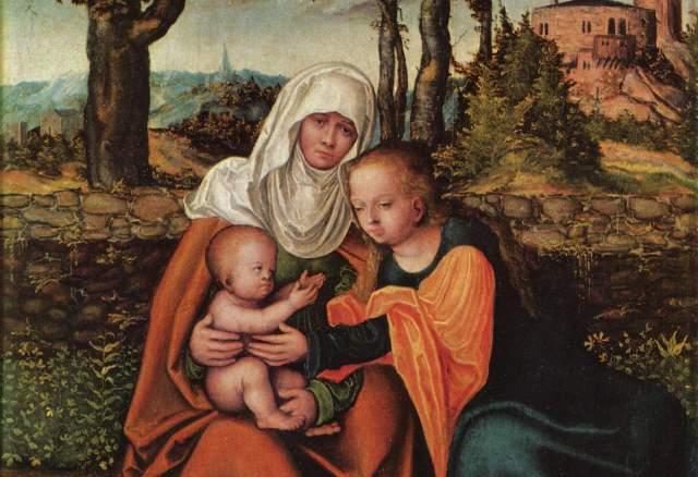 Св. Анна с Мария и детето Христос. Лукас Кранах  1515 г.