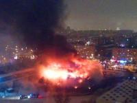 Пожар изпепели библиотеката на Института за обществени науки в Москва
